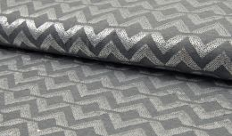 Jersey Fabric | Spangles Wave Silver