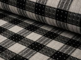 Wool Blend Fabric | Spotted Check