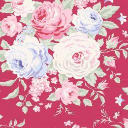 Old Rose Tilda Fabric | Lydia Raspberry