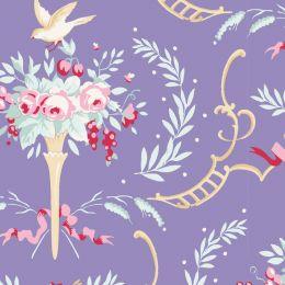 Old Rose Tilda Fabric | Birdsong Blue