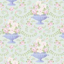 Happy Campers Tilda Fabric | Flowerbees Teal