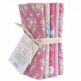 Happy Campers Tilda Fabric | Fat Quarter Bundle Rose