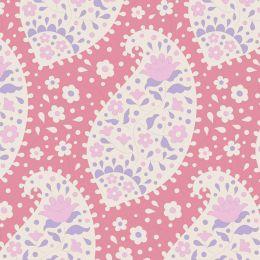 Plum Garden Tilda Fabric | Teardrop Peach