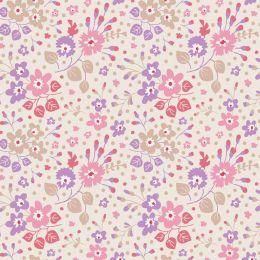 Plum Garden Tilda Fabric | Flower Confetti Sand