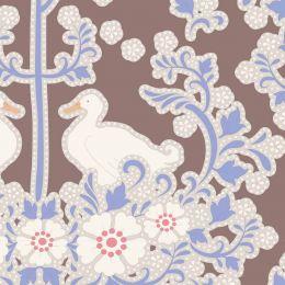 Plum Garden Tilda Fabric | Duck Nest Nutmeg