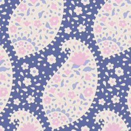 Plum Garden Tilda Fabric | Teardrop Blueberry
