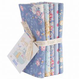 Happy Campers Tilda Fabric | Fat Quarter Bundle Blue