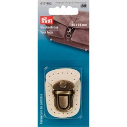 Tuck Lock Leather Beige | Prym