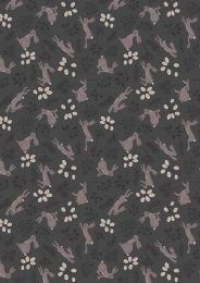 The Water Meadow Fabric | Hare Black