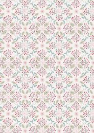 Winter In Bluebell Wood Fabric | Winter Floral Light