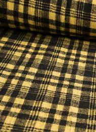 Wool Blend Fabric | Check Yellow & Black