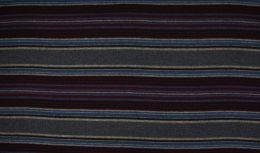 Wool Peru Fabric | Stripe Claret