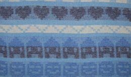 Wool Peru Fabric   Stripe Ice House