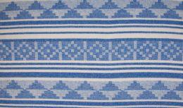 Wool Peru Fabric | Stripe Ice