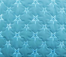 Quilted Fleece Star | Turquoise