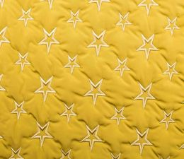Quilted Fleece Star | Yellow