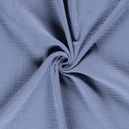 Triple Gauze Fabric | Plain Indigo