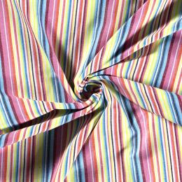Aztec Jacquard Stripe Fabric | Sea Side Pastels