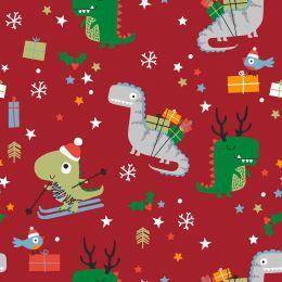 Christmas Jersey Fabric | Festisarus Xmas Red