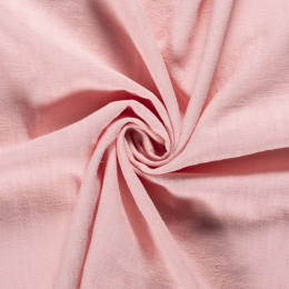Bio Washed Linen Touch Fabric | Mid Pink
