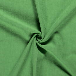 Bio Washed Linen Touch Fabric   Green