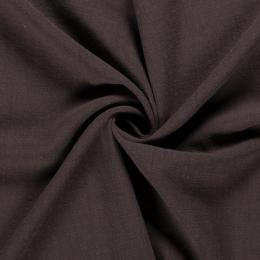 Bio Washed Linen Touch Fabric   Dark Brown