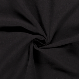 Bio Washed Linen Touch Fabric | Black