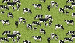 Village Life Fabric | Cows