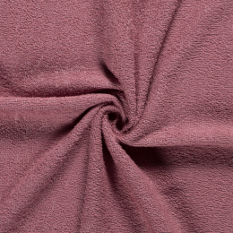 Terry Towelling Fabric | Old Pink