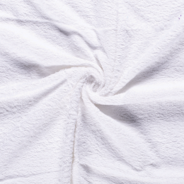 Terry Towelling Fabric | Optical White