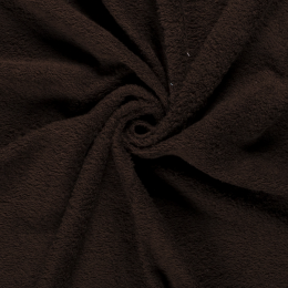 Terry Towelling Fabric | Dark Brown