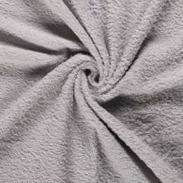 Terry Towelling Fabric | Light Grey