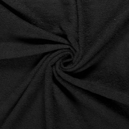 Terry Towelling Fabric | Black