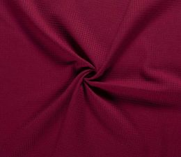 Cotton Waffle Fabric | Bordeaux