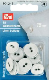 Linen Buttons - Fabric Covered, 15mm | Prym