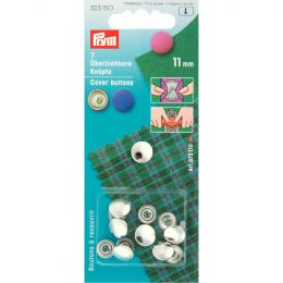 Cover Buttons without Tool | 11mm Silver - Metal | Prym