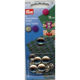 Cover Buttons without Tool | 15mm Silver - Metal | Prym