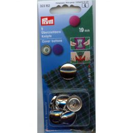 Cover Buttons without Tool | 19mm Silver - Metal | Prym