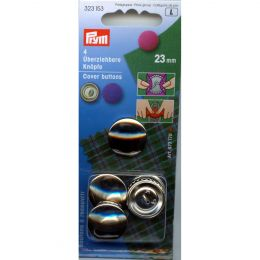Cover Buttons without Tool | 23mm Silver - Metal | Prym