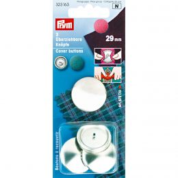 Cover Buttons without Tool | 29mm Silver - Metal | Prym