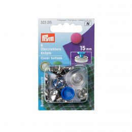 Cover Buttons with Tool | 15mm Silver - Metal | Prym
