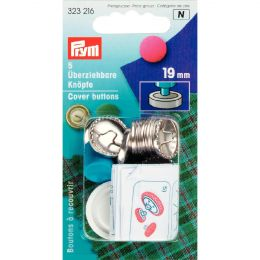 Cover Buttons with Tool | 19mm Silver - Metal | Prym