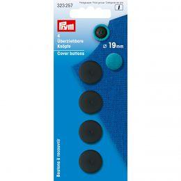 Cover Buttons | 19mm Black - Plastic | Prym