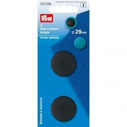 Cover Buttons | 29mm Black - Plastic | Prym