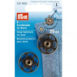 Sew-On Snap Fastener For Wool, 25mm | Prym