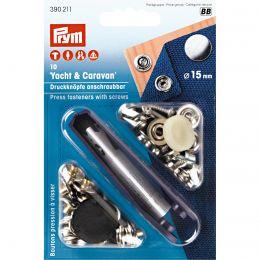 Press Fastener & Tool | Yacht & Caravan, Screw Fit | 15mm Silver