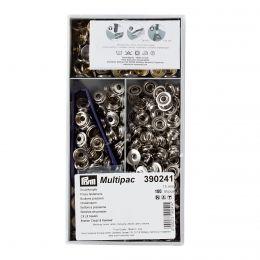 15mm Silver   Outdoor Mini Press Fastener Multipack   Prym