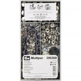 15mm Silver | Anorak Press Fasteners Multipack | Prym