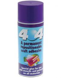 404 | 250ml Spray | Repositionable Then Permanent Glue