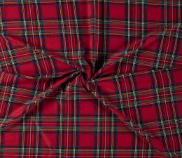 Premium Scottish Check Fabric Light Stretch | Red
